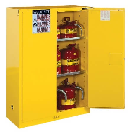 Justrite Wall Mount Flammables 20 Galon Yellow